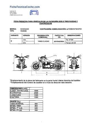 Ficha Reducida Moto