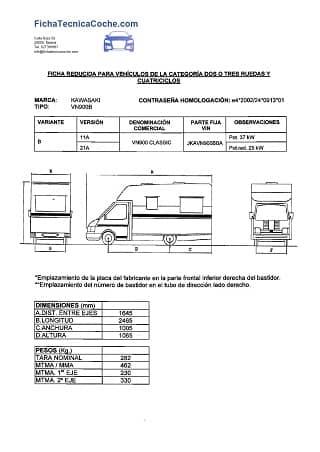 Ficha Reducida Autocaravana